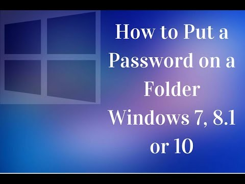 How to Put a Password on Compressed Folder