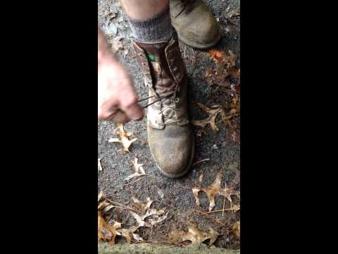Speed lacing your boots with one hand In seconds