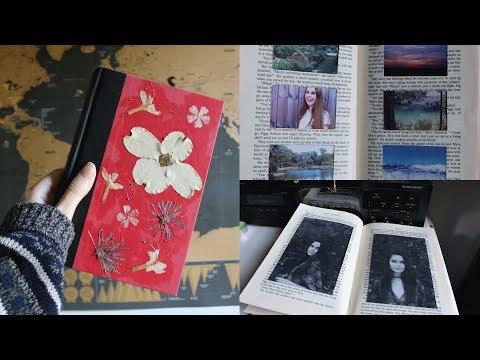 DIY old book photo album