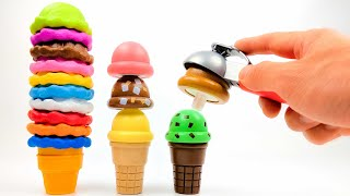 Fun Learning Colors Ice Cream Counter Toy Melissa & Doug Kids Playset Plus Lego Duplo Blocks