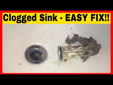 DIY - How To Unclog A Bathroom Sink Without Any Tools