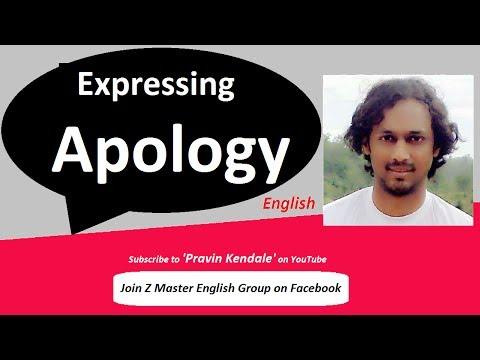 Expressing 'APOLOGY'