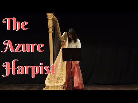 The Azure Harpist // Classical Harpist In London // Available For Hire At Warble Entertainment