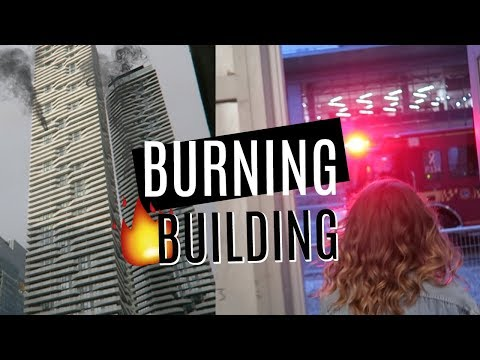 our AIRBNB was on FIRE! | Evacuating a 70-Story Building