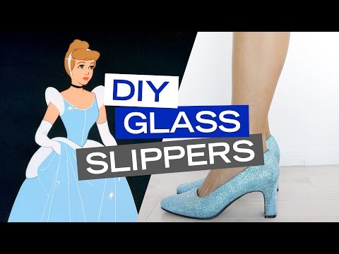Cinderella Inspired DIY Glass Slippers