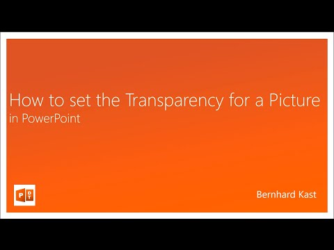 How to set the Transparency for Pictures in PowerPoint