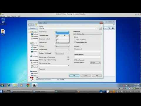 How To Split A Large File Into Small Files In Windows 7 Using 7zip