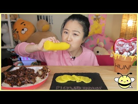 SUPER CRUNCHY Pickled Radish ASMR | Eating Sound