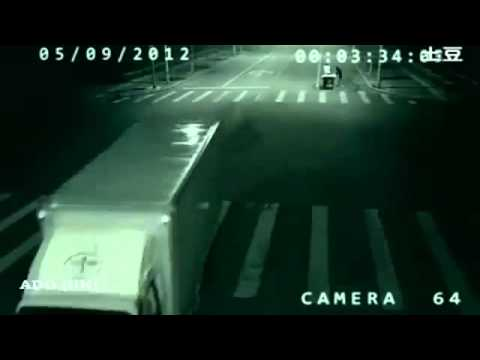 CCTV camera captured Teleportation in China - September 2012 - HD
