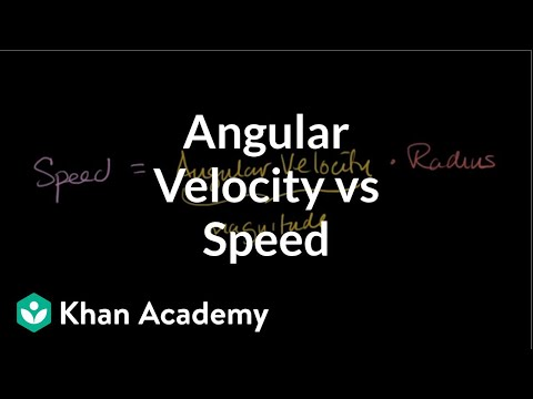 Relationship between angular velocity and speed | Physics | Khan Academy