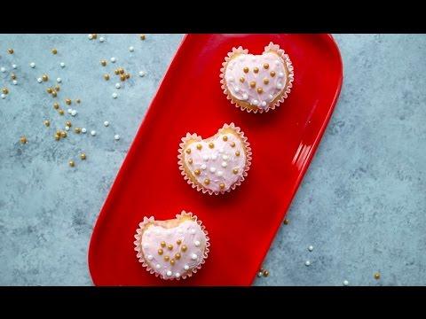 Easy Heart Shaped Cupcakes