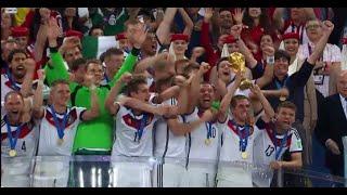 Germania 1-0 Argentina premiazione Mondiali Calcio FIFA Brasile 2014 Rai HD