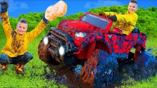 Histoire de voitures jouets Monster Truck pour les enfants - Ride on toys cars for kids