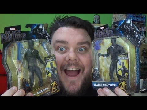 Marvel Black Panther & Erik Killmonger Basic Hasbro Movie Action Figure Review