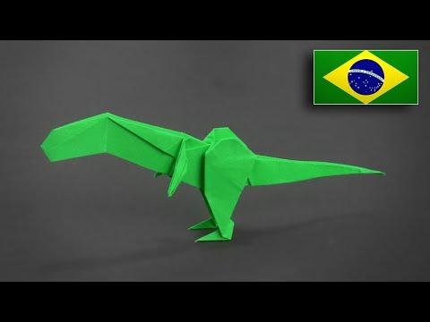 Origami: T-Rex V2 - Instruções em Português BR