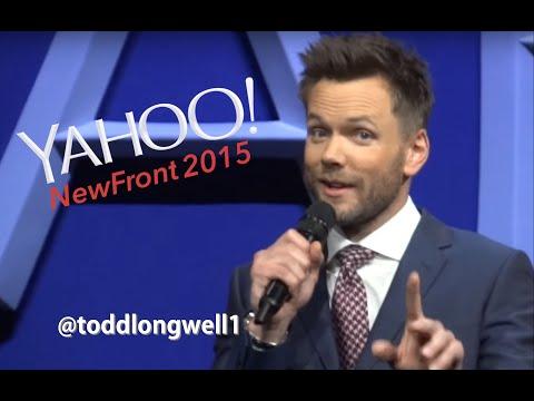 Joel McHale Yahoo NewFront Presention in 1:23 min.