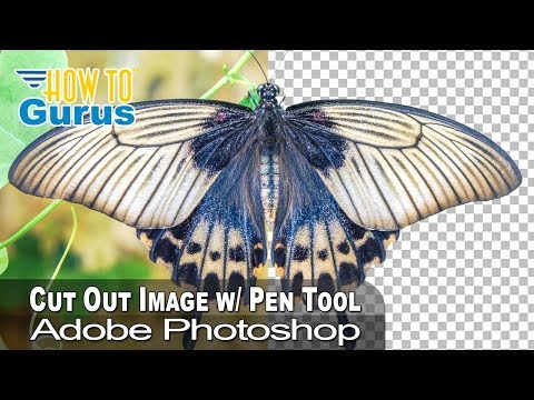 Photoshop How to Cut Out an Image using the Pen Tool & Remove Background: CC 2018 CS6 CS5 Tutorial