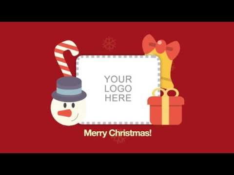 Wideo Template: Happy Holidays eCard