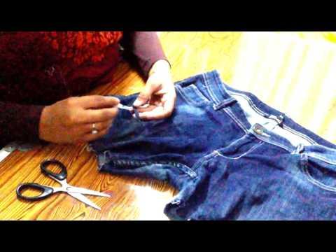 DIY Torn Jeans