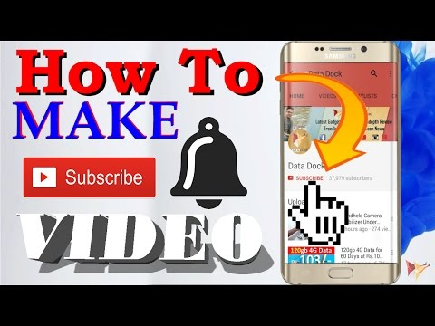 How To Make Subscribe & Bell Intro Video For Your YouTube Channel | Data Dock