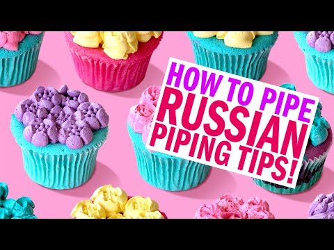 Trying RUSSIAN PIPING TIPS for the first time! - The Scran Line