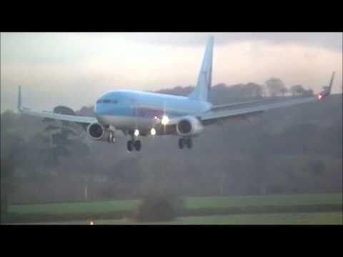 Thomson Airways 737-800 Landing Exeter