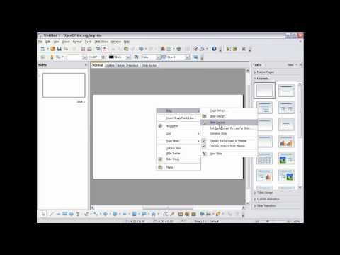 Video Background In Open Office Impress