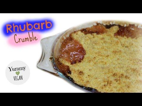 Rhubarb Crumble   YUMMY VEGAN