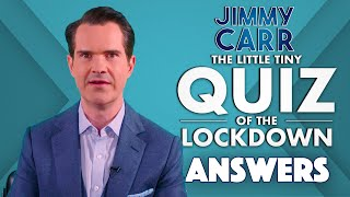 The Little Tiny Quiz Of The Lockdown Answers WEEK 2 DAY 4 Jimmy Carr