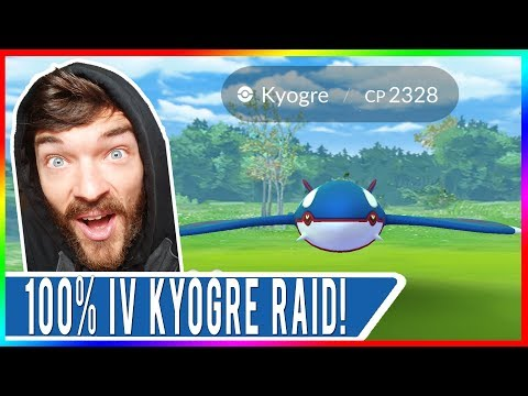 WHY POKEMON GO NEEDS THE MASTER BALL NOW! 2328 CP Perfect Kyogre Raid But Did We Catch It?