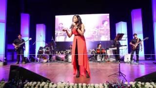 Sugandha Mishra performing  at the RailTel Annual Day 2015