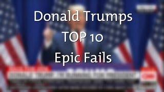 TOP 10 Epic Fails of Donald Trump (dbate)