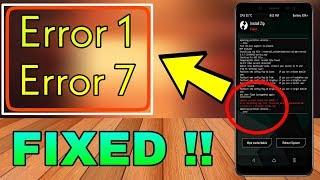 Solución al Error: 7 TWRP al Instalar ROM Android 6,7,8, todos los