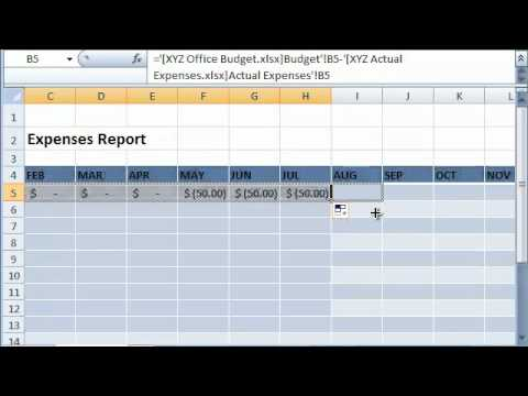 Linking Data from Different Excel Sheets and Workbooks