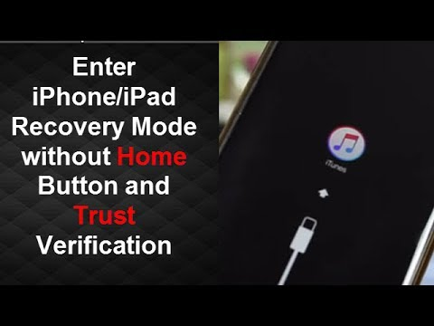 Enter iPhone Recovery Mode without Home Button and Trust (2017)