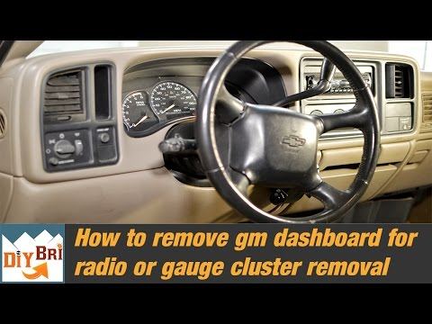 How to remove an Instrument Cluster | GM Dashboard Removal