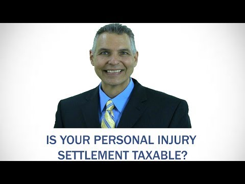 Is you personal injury settlement taxable? Indiana personal injury lawyer
