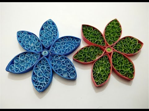 How to make Quilling Flowers || Paper Quilling Designs for Beginners || Craftastic
