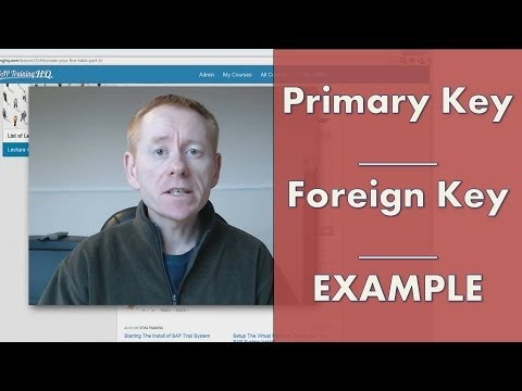 Primary Key Example - Key Fields and Foreign Keys
