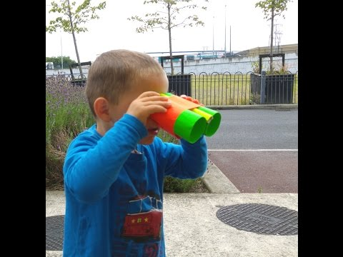 How to do a paper binoculars