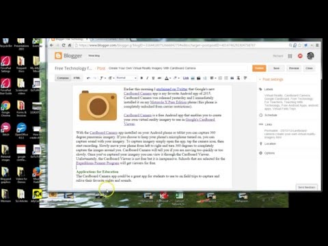 How to Drag and Drop Pictures into Blogger Blog Posts