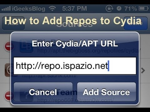 How to Add Sources (Repos) to Cydia on iPhone, iPad or iPod Touch