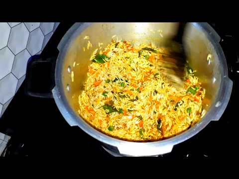 Quick vegetable rice||veg pulao with pressurecooker  in telugu||Andhrastyle veg pulav