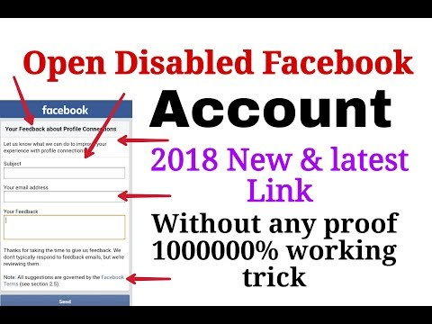 How to Get back Disabled Facebook account without ID proof | New Link I Facebook new update 2018