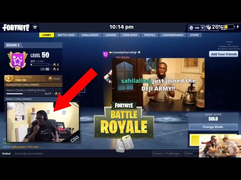ComedyShortsGamer tries to say my name! LIVE ON STREAM! Fortnite Battle Royale