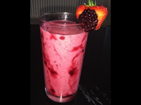 How To Make Mixed Berries Smoothie Easy By Harshi's Kitchen
