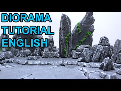 TUTORIAL EASY DIORAMA Stone Landscape (Ver. 2)