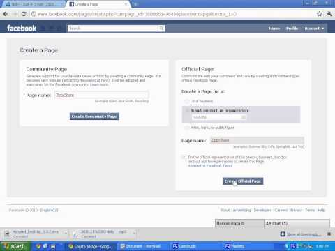 How to create a free facebook page!!