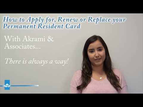 How to Apply for, Renew or Replace your Permanent Resident Card