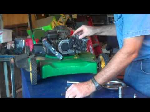 How to decarbonize lawn mower cylinder head